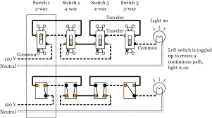 way switches electrical  4 way light switch wiring diagram 2