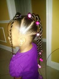 Natural hairstyles for Little Girl Ponytail Hairstyles Cute ...