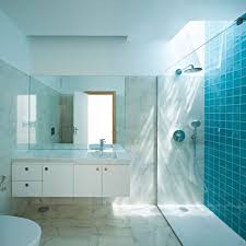 Bathroom Interior Good Looking Modern Blue Bathroom Decoration