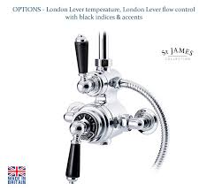 thermostatic shower valve with 2 diverter sj7410 chrome tap to expand