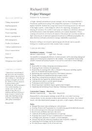 Construction Resume Sample Cool Two Page Project Manager Template Example Construction Resume