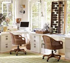 pottery barn home office. Nice Looking Small Pottery Barn Home Office Ideas With Desk Complete Drawer Comfortable Swivel Rattan Chair Vintage Fan As Unique Wall