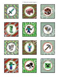 13 Best Photos Of Minecraft Party Free Printables Cupcake Toppers