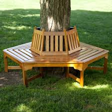 View in gallery Wooden tree bench from Hayneedle