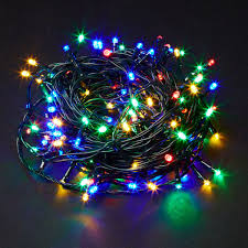 Christmas Berry Lights Uk 80 Multi Coloured Led Berry Indoor Outdoor Lights With Timer Function Mains Powered