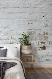 this charming white brick wallpaper is