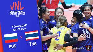 ถ่ายทอดสด วอลเลย์บอลหญิง เนชันส์ลีก 2021 รัสเซีย vs ไทย HD พากย์ไทย