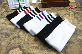 children cotton stockings high socks knee socks soccer socks white black red blue cotton in