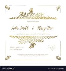 Sample Invitation Cards 007 Golden Wedding Invitation Card Template Vector Ideas