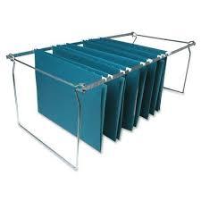 sparco hanging file folder frames snless steel adjule length spr60529 3 pack