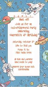 Space Party Invitation Outer Space Birthday Party Invitation Birthday Party