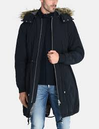 Designer Fishtail Parka Armani Exchange Hooded Insulated Fishtail Parka Coat For