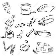 drawing tools. 1300x1300 Cartoon Drawings Of DIY Tools For Decorating And Renovating Drawing S