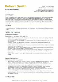 Accounting Resume Template Resumes For Accountants Chief
