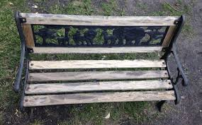 how to re an old iron bench into a