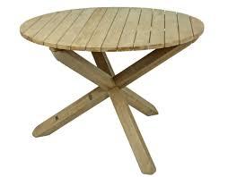 Garten Akazie Tisch Rund 110cm Gartentisch Holztisch Holz Massiv