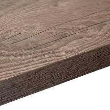 38mm B&Q Mountain Timber Laminate Wood Effect Square Edge Worktop (L)3600mm  (D)600mm | Departments | DIY at B&Q