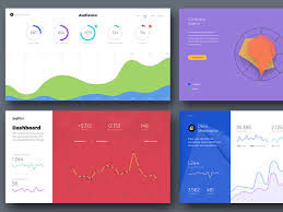 Charts And Graphs Cards For Landing Pages By Visual
