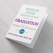 Personalised Card Congratulations On Your Graduation