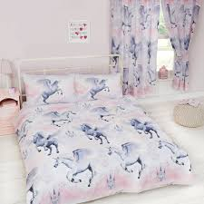 stardust unicorn duvet cover sets matching curtains single double junior new