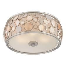 flush mount light with decorative shade