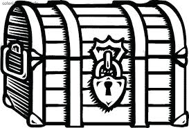 Coloring Treasure Chest Coloring Pages Page Free Treasure Chest