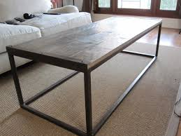 Industrial Style Coffee Tables Industrial Style Square Tube Coffee Table Acid Patina Treatment