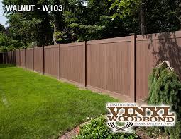 brown vinyl fence. V300-6 - Grand Illusions Vinyl WoodBond Walnut (W103) T\u0026G Privacy Fence. Fence Brown A