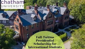 Chatham University Pa Program Full Tuition Presidential Funding For International Students