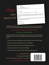 The BACK COVER Of My Just Released Book Right Your Resume Fix Or  857e130fcb24914ff6d42cc7c2025ece 536139530614413140