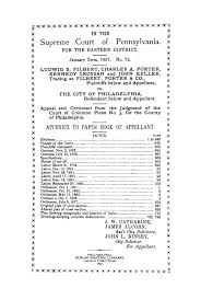 In the Supreme Court of Pennsylvania for the Eastern District, January  Term, 1897, No. 72: Ludwig S. Filbert, Charles A. Porter, Kennedy Crossan  and John Keller, Trading as Filbert, Porter & Co.,