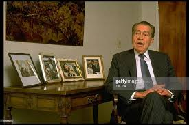 nixon office. former president richard nixon during time interview in his office