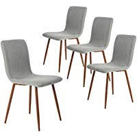 coavas dining chairs set of 4 fabric kitchen chairs with sy metal legs for dining room