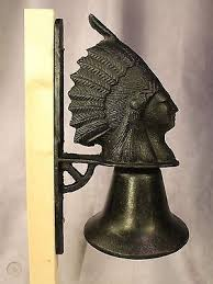 vintage indian chief head cast iron