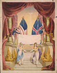 Image result for a memorial to the first 100 years of peace between the United States and Great Britain following the War of 1812.