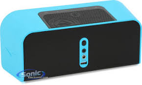 klipsch bluetooth speakers. product name: klipsch kmc 1 blue music center bluetooth speakers