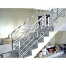 steel stair railing glass