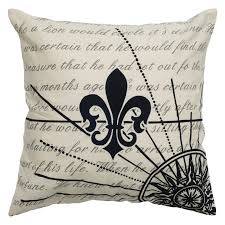 Decorative Pillow Set Rizzy Home Fleur De Lis Search For Treasure Decorative Throw