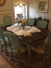 french provincial dining room chairs. french provincial or country thomasville dining room table and cane back chairs e