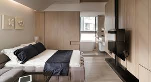 modern bedroom with bathroom. Luxurious Bedroom Apartment With Bathroom Combo Modern F