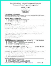 College Resume Builder 2018 Best 48 Business Resumes Basic Kenyadreamus