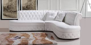 your bookmark products divani casa 2818c modern white leather sectional sofa