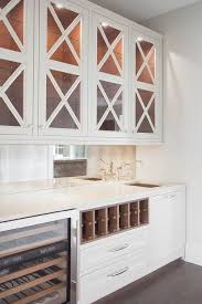 glass x front butler pantry cabinets