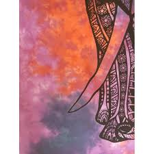 hanging sheet purple elephant tie dye 100 cotton wall hanging tapestry