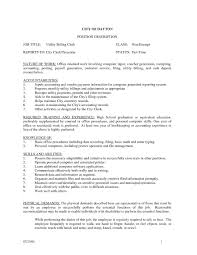 Mesmerizing Resume Billing Clerk Job Description With Additional