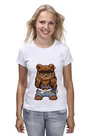 """Женские футболки c уникальными принтами """"<b>миша</b>"""" - <b>Printio</b>"""