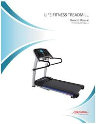 Fit Treadmill Score Chart F1 Smart Treadmill User Manual Life Fitness