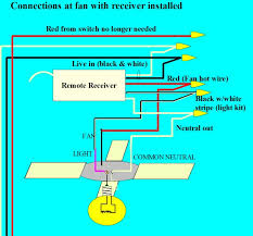 converting an existing ceiling fan to a remote control wiring diagram for ceiling fan remote control