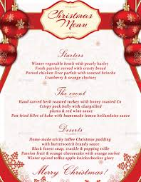 card christmas menu card template latest christmas menu card template medium size