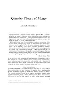 quantity theory of money springer inside